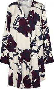 Cassandra Floral Print Satin Dress