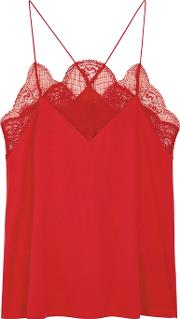 Celina Lace Trimmed Jersey Top