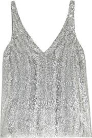Hale Silver Sequinned Top
