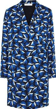 Hollis Navy Leaf Print Dress