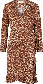 Limon Leopard Print Wrap Dress