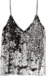 Mano Silver Sequinned Tank