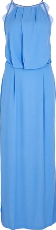 Willow Blue Crepe Maxi Dress