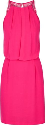 Willow Fuchsia Open Back Dress