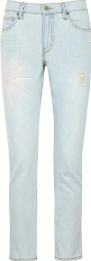 The Vintage Embroidered Skinny Jeans Size W27