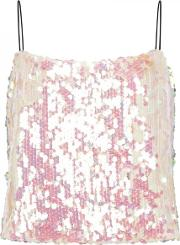 Scales Pink Iridescent Sequinned Cami Top Size 10