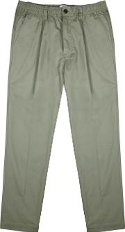 Sage Tapered Cotton Chinos