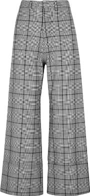 Bacal Checked High Waisted Trousers