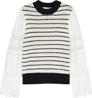 Coco Striped Chunky Knit Wool Jumper
