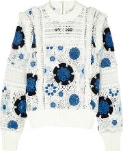 Figgy Floral Embroidered Lace Jumper