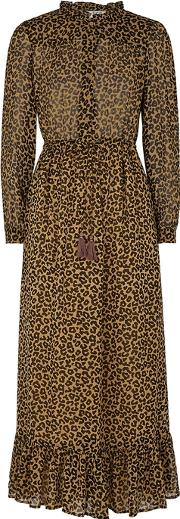 Lottie Leopard Print Georgette Dress