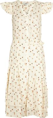 Margaux Floral Print Cotton Dress