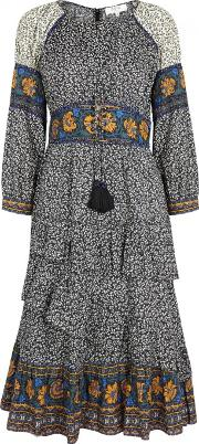 Maya Printed Cotton Dress Size 8