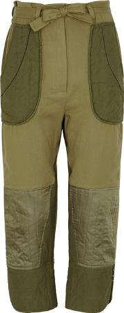O'keeffe Patchwork Cotton Trousers