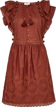 Sofie Embroidered Cotton Dress