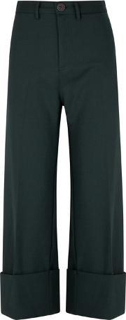 Tradition Forest Green Wide Leg Trousers