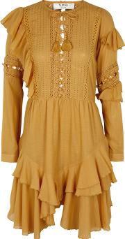 Weatherly Yellow Cotton Blend Dress