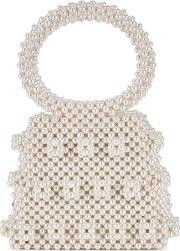 Dante Faux Pearl Beaded Top Handle Bag