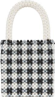 Willow Faux Pearl Top Handle Bag