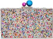 Clara Crystal Embellished Box Clutch