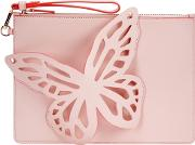 Flossy Pink Leather Pouch