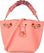 Romy Mini Pink Leather Bucket Bag