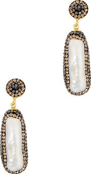 Baroque Pearl 18kt Gold Plated Earrings