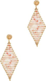 Sophia 24kt Gold Plated And Pink Opal Earrings