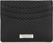 Black Carbon Leather Card Holder