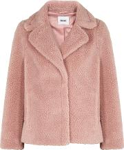 Marion Pink Faux Shearling Jacket