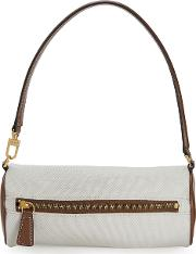 Suzy Leather And Canvas Shoulder Bag