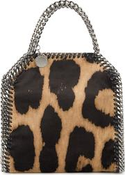 Falabella Tiny Leopard Top Handle Bag