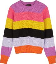 Magdalena Striped Knitted Jumper