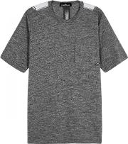 Grey Printed Cotton T Shirt