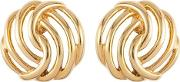 1970s Vintage Monet Gold Clip On Earrings