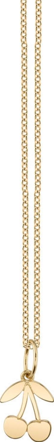 14ct Yellow Gold Plain Cherry Necklace