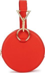 Azar Red Leather Clutch