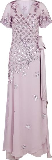Starlet Sequin Embellished Chiffon Gown