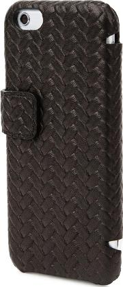 Black Braided Leather Iphone 66s Case