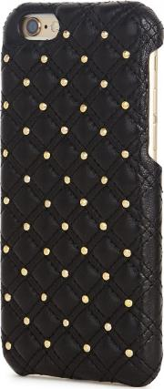 Black Studded Leather Iphone 66s Case