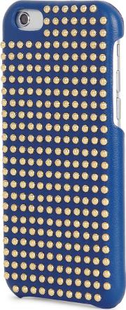Blue Studded Leather Iphone 66s Case