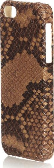 Brown Python Print Leather Iphone 5 Case