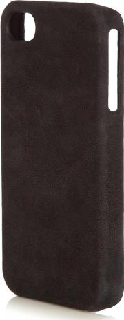 Grey And Black Washed Leather Iphone 4 Case