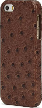 Ostrich Effect Leather Iphone 55sse Case