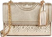 Fleming Gold Leather Cross Body Bag