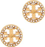Gold Plated Logo Stud Earrings
