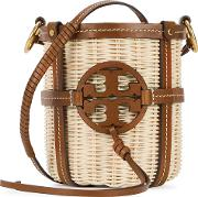 Miller Straw And Leather Bucket Bag