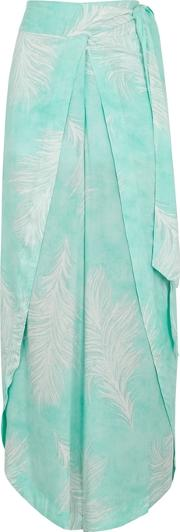 Liz Feather Print Voile Trousers