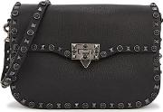 Guitar Rockstud Rolling Leather Shoulder Bag
