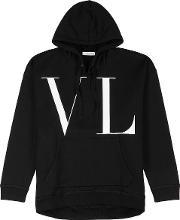 Vltn Print Hooded Jersey Sweatshirt